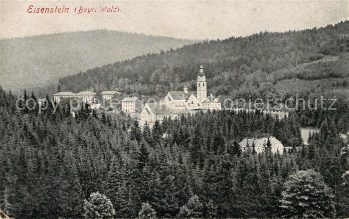 AK / Ansichtskarte Bayrisch Eisenstein Panorama Kirche Bayrisch Eisenstein Kat. Bayerisch Eisenstein