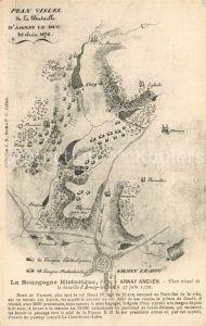 AK / Ansichtskarte Arnay le Duc La Bourgogne Historique Plan visuel de la bataille Arnay Arnay le Duc Kat. Arnay le Duc