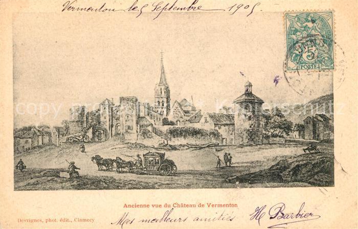 AK / Ansichtskarte Vermenton Ancienne vue du Chateau Vermenton Vermenton Kat. Vermenton