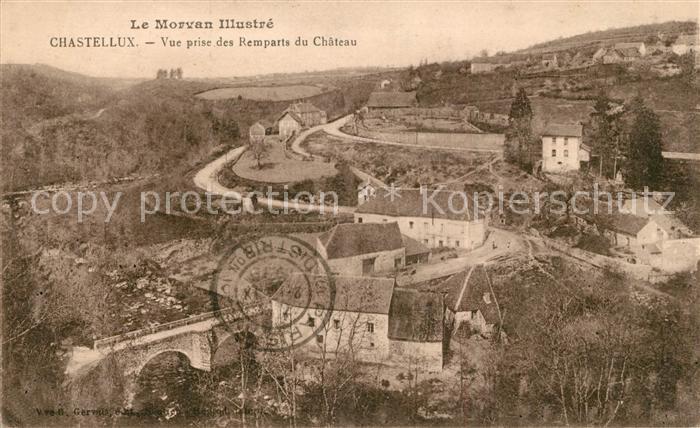 AK / Ansichtskarte Chastellux sur Cure Vue prise des Remparts du Chateau Chastellux sur Cure Kat. Chastellux sur Cure