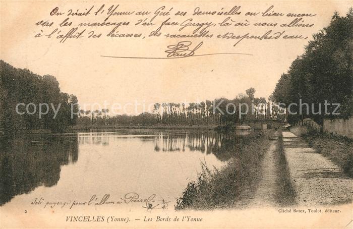 AK / Ansichtskarte Vincelles Yonne Les Bords de l Yonne Vincelles Yonne Kat. Vincelles
