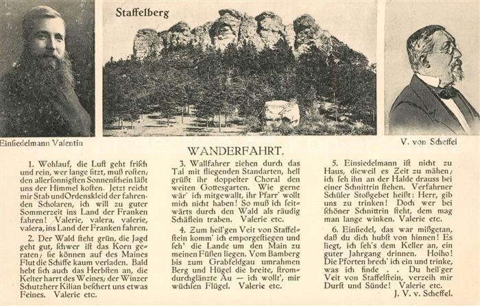 AK / Ansichtskarte Staffelberg Einsiedler Bruder Valentin Portrait V von Scheffel Staffelberg Kat. Bad Staffelstein