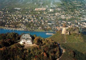 AK / Ansichtskarte Bernkastel Kues Fliegeraufnahme Burg Landshut Jugendherberge  Bernkastel Kues Kat. Bernkastel Kues