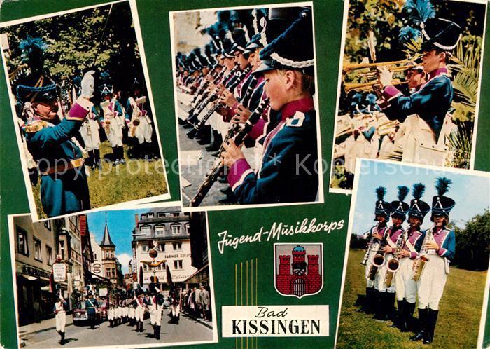 AK / Ansichtskarte Bad Kissingen Jugend Musikkorps Uniform Fraenkischer Grenadiere um 1812 Bad Kissingen Kat. Bad Kissingen
