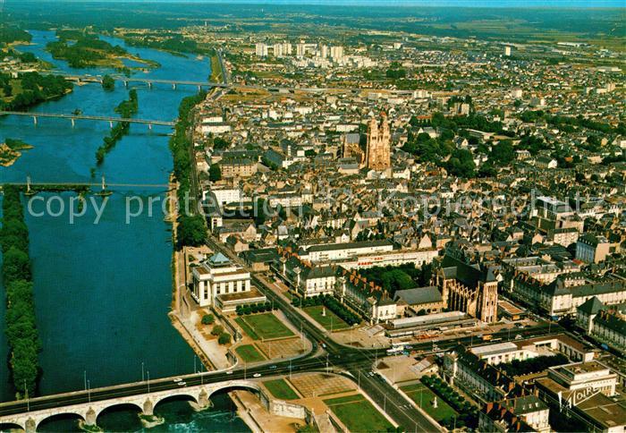 AK / Ansichtskarte Tours Indre et Loire Vue aerienne Collection Les Merveilles du Val de Loire Tours Indre et Loire Kat. Tours