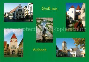 AK / Ansichtskarte Aichach Unteres Tor Stadtansichten Denkmal Aichach Kat. Aichach