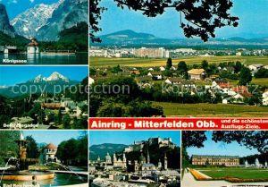 AK / Ansichtskarte Mitterfelden Koenigssee Bad Reichenhall Berchtesgaden Salzburg Herrenchiemsee Mitterfelden Kat. Ainring