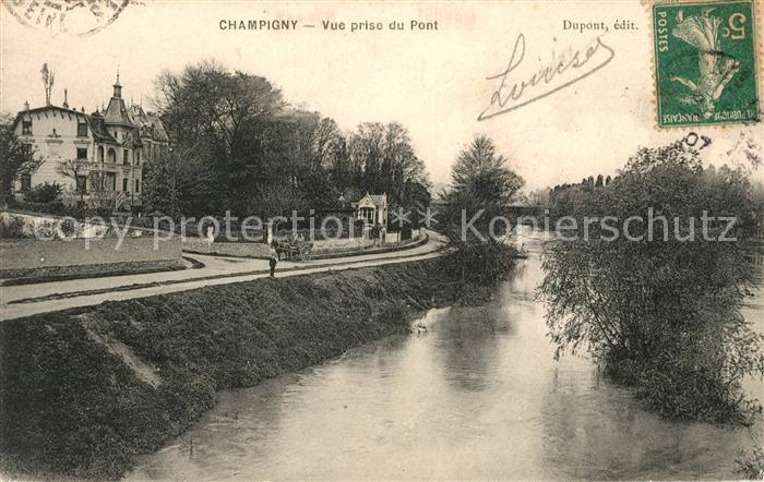 AK / Ansichtskarte Champigny Marne Vue prise du Pont Champigny Marne Kat. Champigny