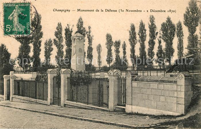 AK / Ansichtskarte Champigny Marne Monument de la Defense  Champigny Marne Kat. Champigny