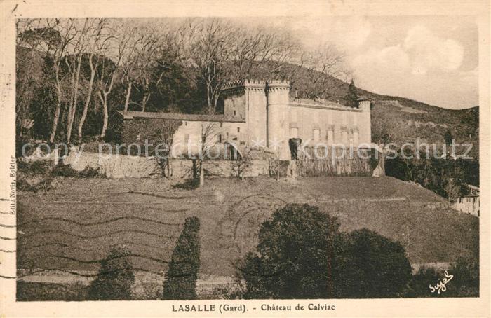 AK / Ansichtskarte Lasalle Chateau de Calviac Lasalle Kat. Lasalle