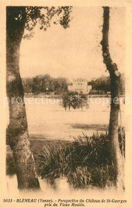 AK / Ansichtskarte Bleneau Perspective du Chateau de St Georges pris du Vieux Moulin Bleneau Kat. Bleneau