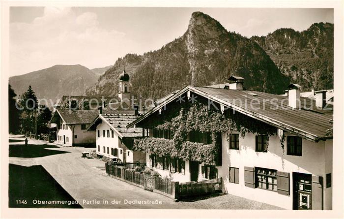 AK / Ansichtskarte Oberammergau Partie in der Dedierstrasse Oberammergau Kat. Oberammergau