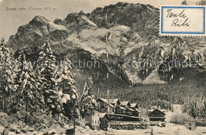 AK / Ansichtskarte Eibsee Panorama Eibsee Kat. Grainau