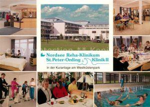 AK / Ansichtskarte St Peter Ording Nordsee Reha Klinikum Schwimmbad  St Peter Ording Kat. Sankt Peter Ording