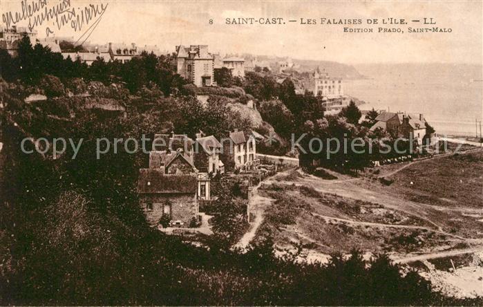 AK / Ansichtskarte Saint Cast le Guildo Les Falaises de l'Ile  Saint Cast le Guildo Kat. Saint Cast le Guildo