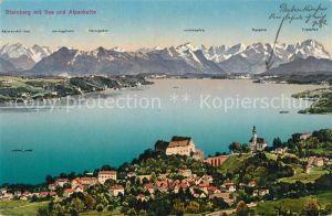 AK / Ansichtskarte Starnberg See mit Alpenkette Starnberg See Kat. Starnberg