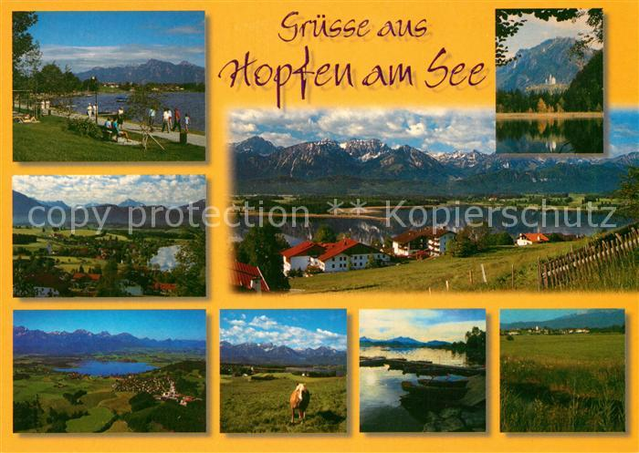 AK / Ansichtskarte Hopfen See Uferpromenade Panoramen Hopfen See Kat. Fuessen