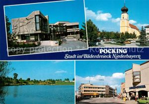 AK / Ansichtskarte Pocking Kirche Rathaus Pocking Kat. Pocking