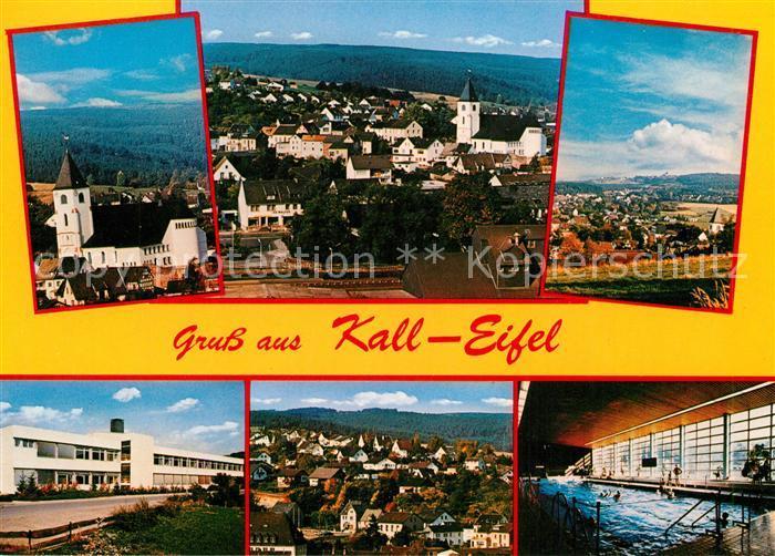 AK / Ansichtskarte Kall Schwimmbad Kirche Panorama Kall Kat. Kall