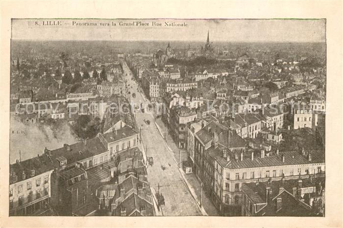 AK / Ansichtskarte Lille Antwerpen Panorama ver la Grand Place Rue Nationale Lille Antwerpen Kat.
