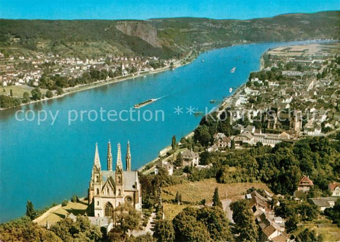 AK / Ansichtskarte Remagen Kirche und Rhein Remagen Kat. Remagen
