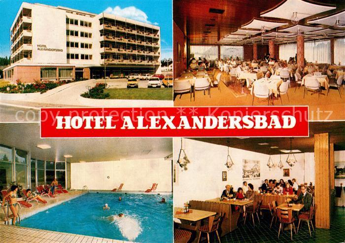 AK / Ansichtskarte Alexandersbad Bad Hotel Alexanderbad Pool Alexandersbad Bad Kat. Bad Alexandersbad