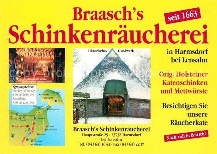 AK / Ansichtskarte Harmsdorf Holstein Braasch s Schinkenraeucherei Historisches Handwerk Harmsdorf Holstein Kat. Harmsdorf