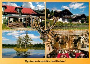 AK / Ansichtskarte Glatzen Marienbad Tschechien Myslivecka hospudka Na Kladske Jaegerstuebchen Auf der Kladska Jagdtrophaeen Glatzen Marienb Kat. Marianske Lazne