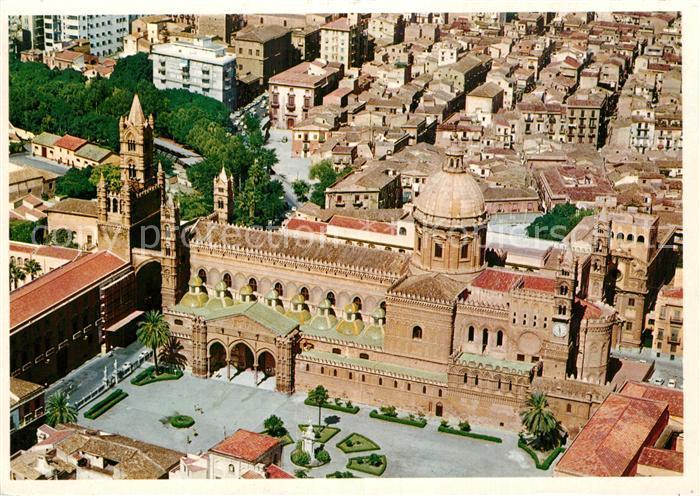AK / Ansichtskarte Palermo Sicilia Cattedrale veduta aerea Kathedrale Palermo Sicilia Kat. Palermo