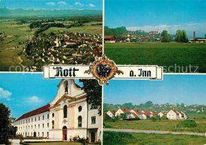 AK / Ansichtskarte Rott Inn Fliegeraufnahme Kloster Rott Inn Kat. Rott a.Inn