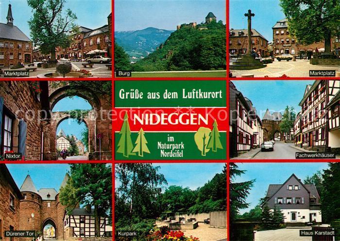Nideggen Eifel Fachwerkhaeuser Duerener Tor Nixtor Marktplatz Burg Nideggen Eifel Kat. Nideggen