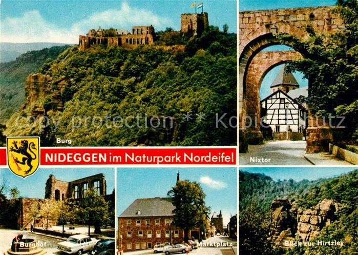 Nideggen Eifel Hirtzley Burghof Ruine Marktplatz Nixtor Nideggen Eifel Kat. Nideggen