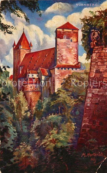 Nuernberg Burg Nuernberg Kat. Nuernberg