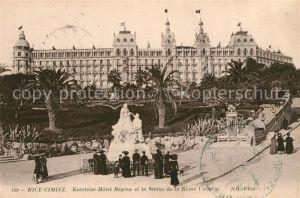 Cimiez Excelsior Hotel Regina et la Statue de la Reine Victoria Cimiez Kat. Nice