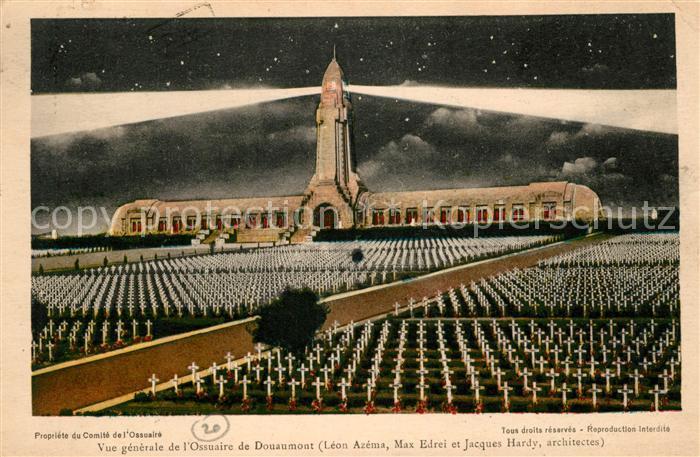 Douaumont Vue generale de l'Ossuaire de Douaumont Douaumont Kat. Douaumont