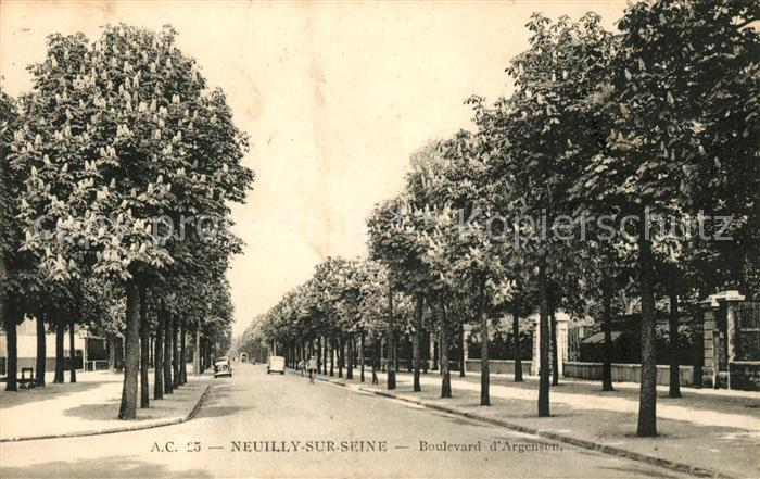 AK / Ansichtskarte Neuilly sur Seine Boulevard d Argenson Neuilly sur Seine Kat. Neuilly sur Seine
