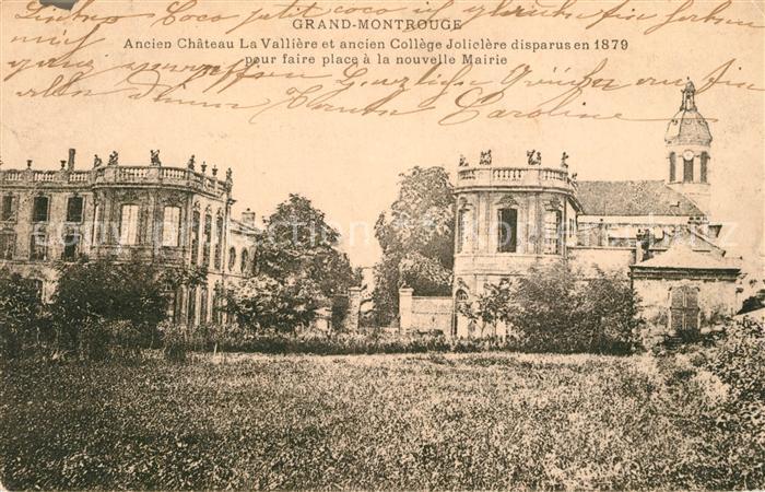 AK / Ansichtskarte Montrouge Ancien Chateau La Valliere et ancien College Jolielere disparus pour faire place a la nouvelle Mairie Montrouge Kat. Montrouge