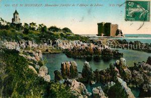AK / Ansichtskarte Ile Saint Honorat Alpes Maritimes Monastere fortifie de l'Abbaye de Lerins Ile Sai