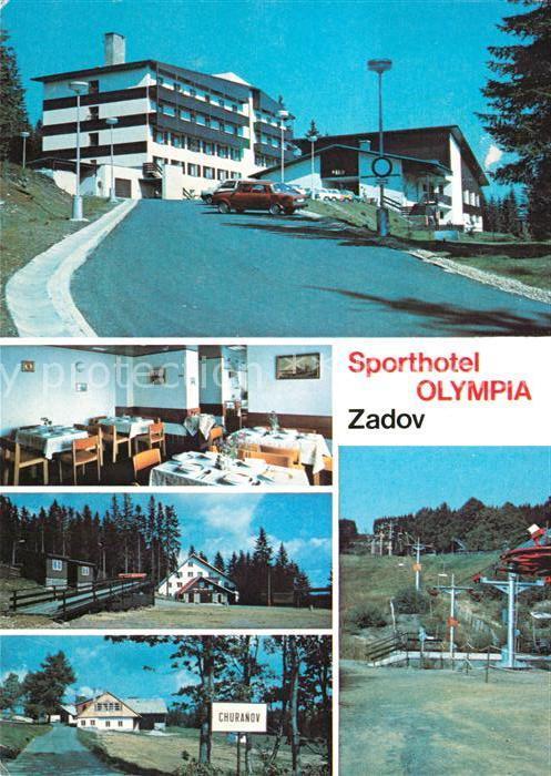AK / Ansichtskarte Stachy_Susice_Okres_Pachatice Sporthotel Olympia Zadov Stachy_Susice Kat. Stachau