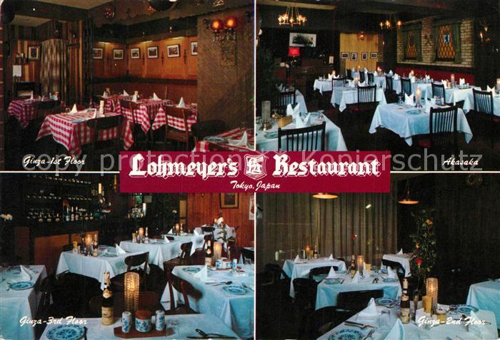 AK / Ansichtskarte Tokyo Lohmeyers Restaurant Tokyo Kat. Tokyo