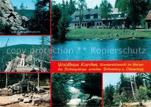 AK / Ansichtskarte Bischofsgruen Waldhaus Karches Nusshardtgipfel Schneebergturm Bischofsgruen Kat. Bischofsgruen
