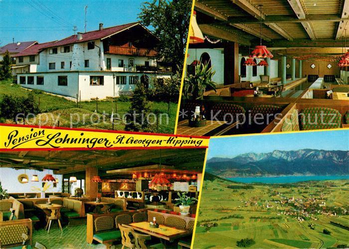 AK / Ansichtskarte Hipping_St_Georgen Privatpension Lohninger Landschaftspanorama See Alpen  0