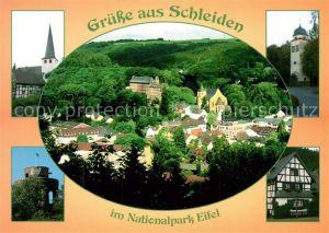 AK / Ansichtskarte Schleiden_Eifel Kirche Schloss Panorama Schleiden Eifel Kat. Schleiden