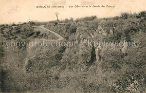 AK / Ansichtskarte Saulges Vue generale et le chemin des Grottes Saulges Kat. Saulges
