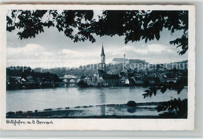 AK / Ansichtskarte Vilshofen_Donau Panorama mit Kirche Vilshofen Donau Kat. Vilshofen an der Donau