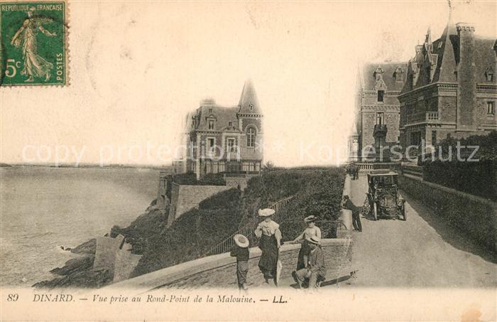 AK / Ansichtskarte Dinard_Ille_et_Vilaine_Bretagne Vue prise au Rond Point de la Malouine Dinard_Ille Kat. Dinard