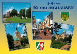 AK / Ansichtskarte Recklinghausen_Westfalen Ruhrfestspielhaus Kunibertstrasse Rathaus Kirche St. Peter  Recklinghausen Westfalen Kat. Recklinghausen