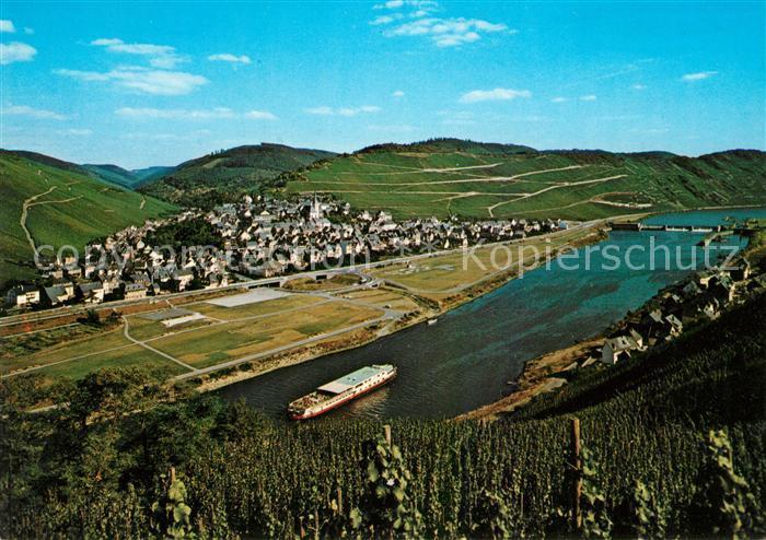 AK / Ansichtskarte Enkirch_Mosel Panorama Moseltal Weinberge Cornely Karte Nr 7485 Enkirch Mosel Kat. Enkirch
