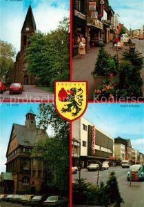 AK / Ansichtskarte Frechen St Audomar Kiche Rathaus Hauptstrasse Wappen Frechen Kat. Frechen