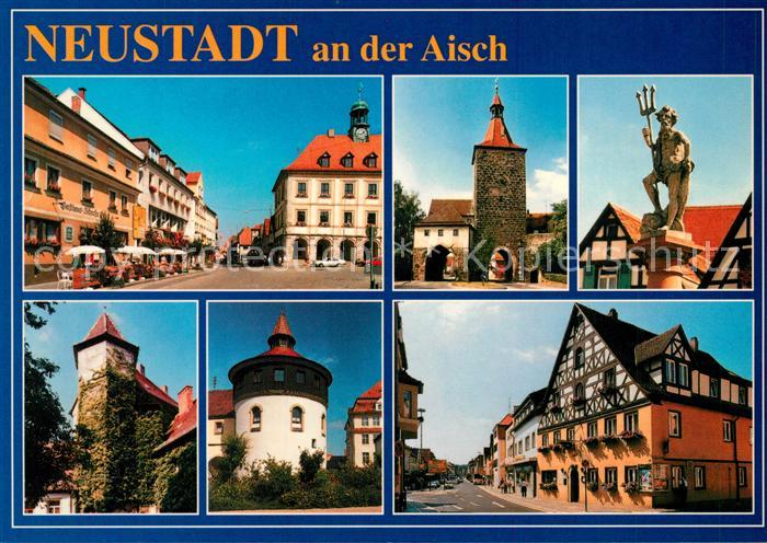 Antiquitäten Neustadt Aisch : Ak ansichtskarte neustadt aisch rathaus stadttor fachwerkhaeuser